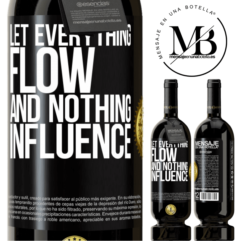 29,95 € Free Shipping | Red Wine Premium Edition MBS® Reserva Let everything flow and nothing influence Black Label. Customizable label Reserva 12 Months Harvest 2013 Tempranillo