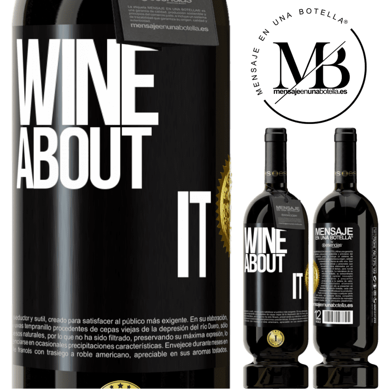 29,95 € Free Shipping | Red Wine Premium Edition MBS® Reserva Wine about it Black Label. Customizable label Reserva 12 Months Harvest 2013 Tempranillo