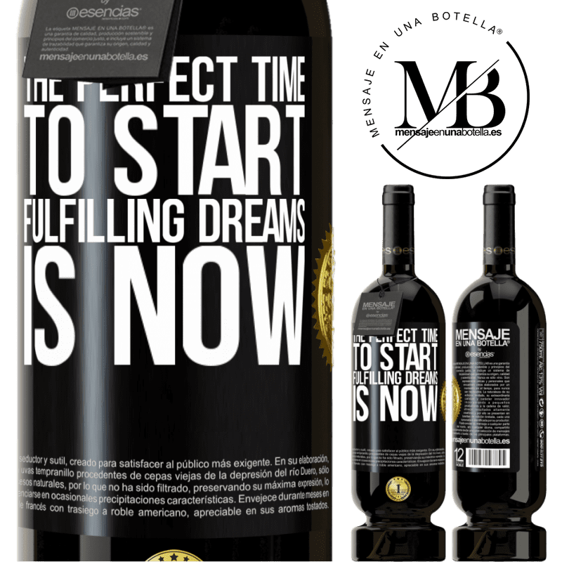 29,95 € Free Shipping | Red Wine Premium Edition MBS® Reserva The perfect time to start fulfilling dreams is now Black Label. Customizable label Reserva 12 Months Harvest 2013 Tempranillo