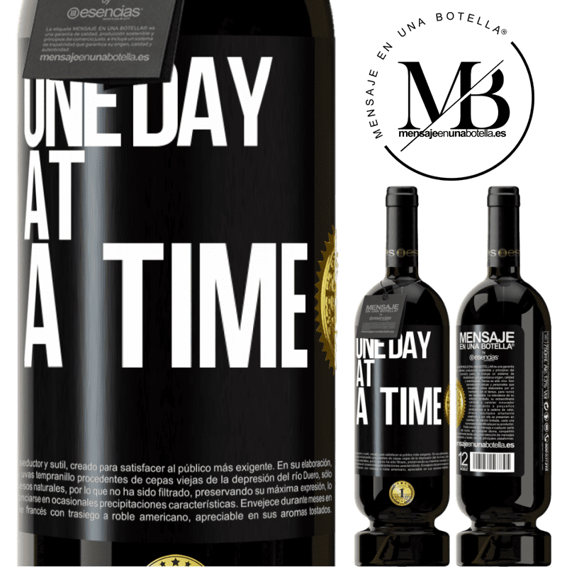 29,95 € Free Shipping | Red Wine Premium Edition MBS® Reserva One day at a time Black Label. Customizable label Reserva 12 Months Harvest 2013 Tempranillo