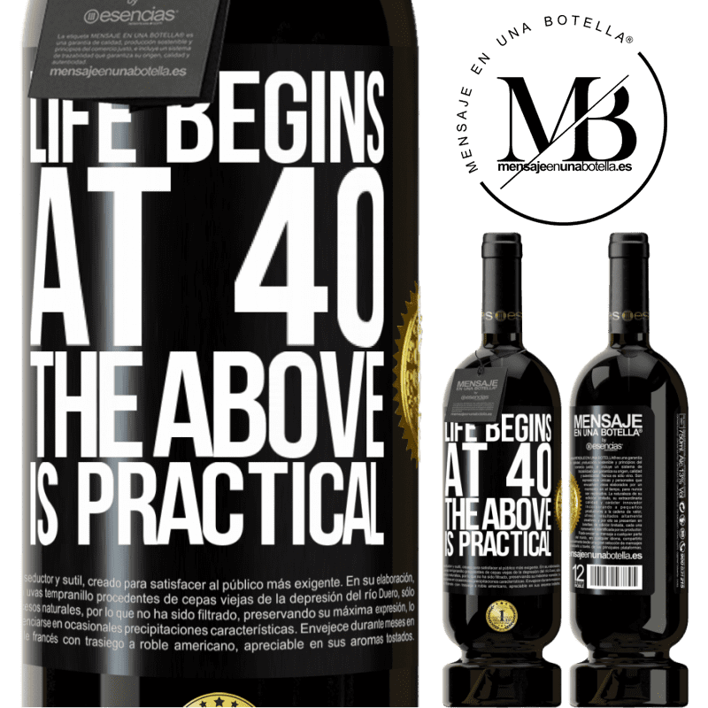 29,95 € Free Shipping | Red Wine Premium Edition MBS® Reserva Life begins at 40. The above is practical Black Label. Customizable label Reserva 12 Months Harvest 2013 Tempranillo