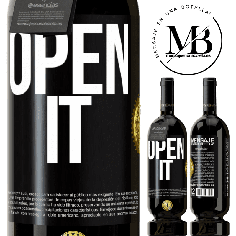 29,95 € Free Shipping | Red Wine Premium Edition MBS® Reserva Open it Black Label. Customizable label Reserva 12 Months Harvest 2013 Tempranillo