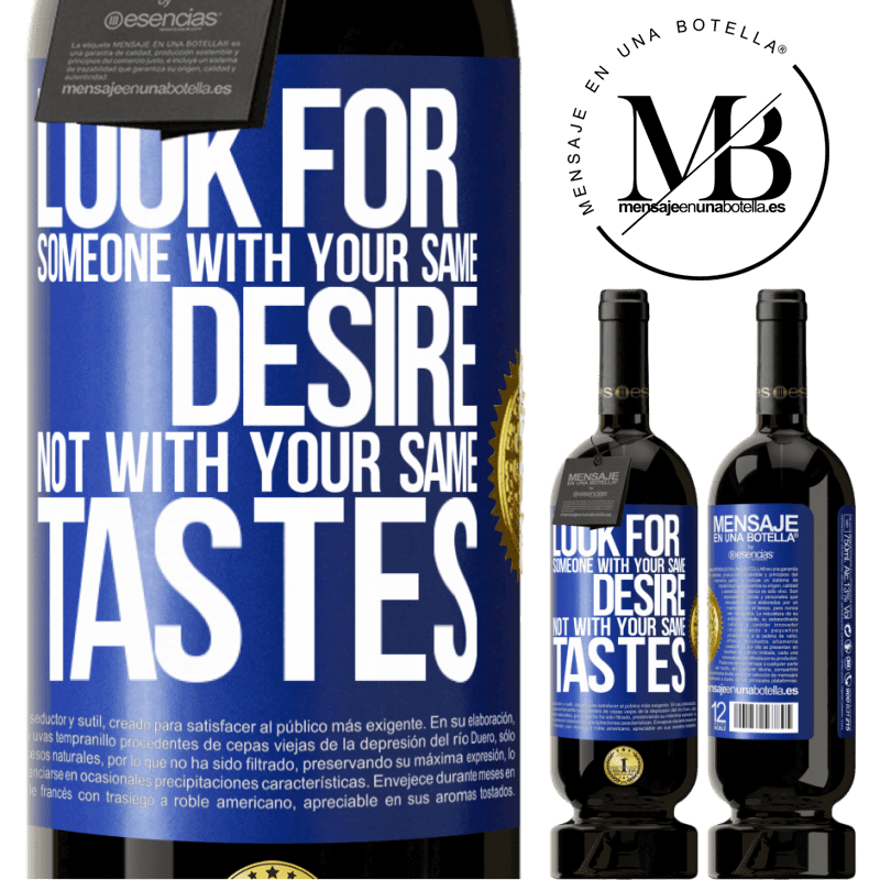29,95 € Free Shipping | Red Wine Premium Edition MBS® Reserva Look for someone with your same desire, not with your same tastes Blue Label. Customizable label Reserva 12 Months Harvest 2013 Tempranillo