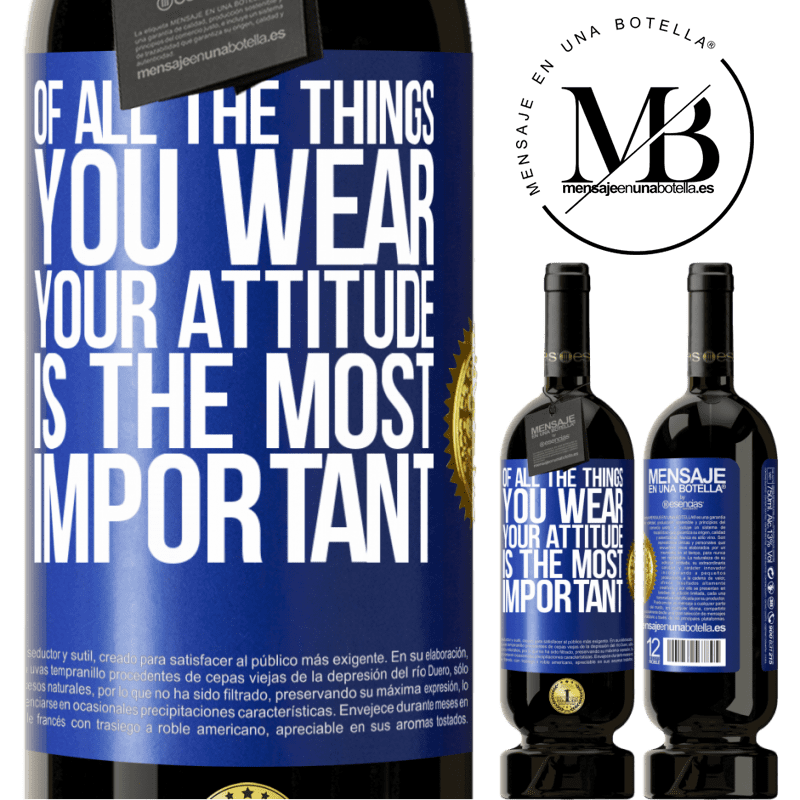 29,95 € Free Shipping | Red Wine Premium Edition MBS® Reserva Of all the things you wear, your attitude is the most important Blue Label. Customizable label Reserva 12 Months Harvest 2013 Tempranillo