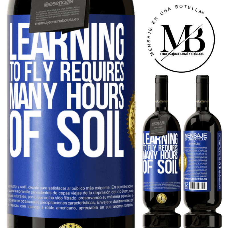29,95 € Free Shipping | Red Wine Premium Edition MBS® Reserva Learning to fly requires many hours of soil Blue Label. Customizable label Reserva 12 Months Harvest 2013 Tempranillo