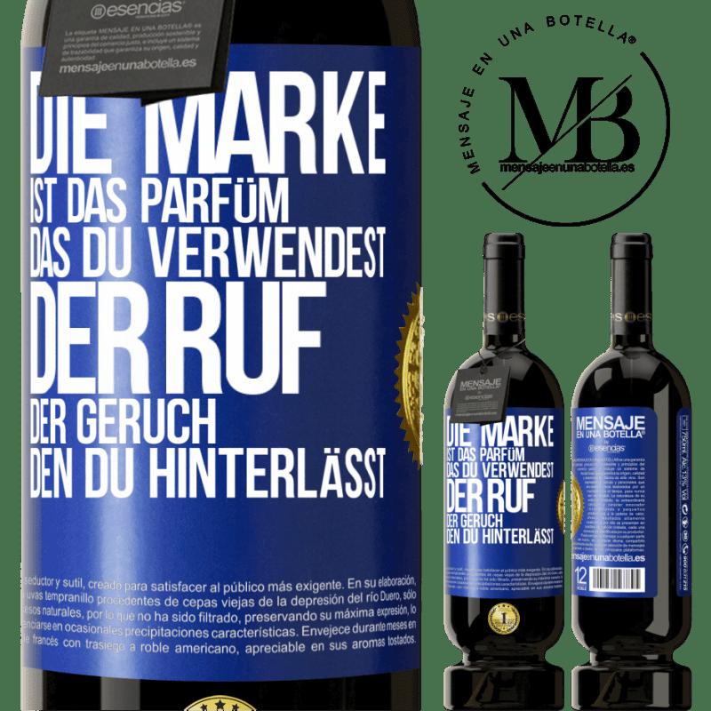 29,95 € Kostenloser Versand   Rotwein Premium Edition MBS® Reserva Marke ist das Parfüm, das Sie verwenden. Ruf, der Geruch, den du hinterlässt Blaue Markierung. Anpassbares Etikett Reserva 12 Monate Ernte 2013 Tempranillo