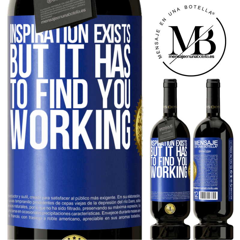29,95 € Free Shipping | Red Wine Premium Edition MBS® Reserva Inspiration exists, but it has to find you working Blue Label. Customizable label Reserva 12 Months Harvest 2013 Tempranillo