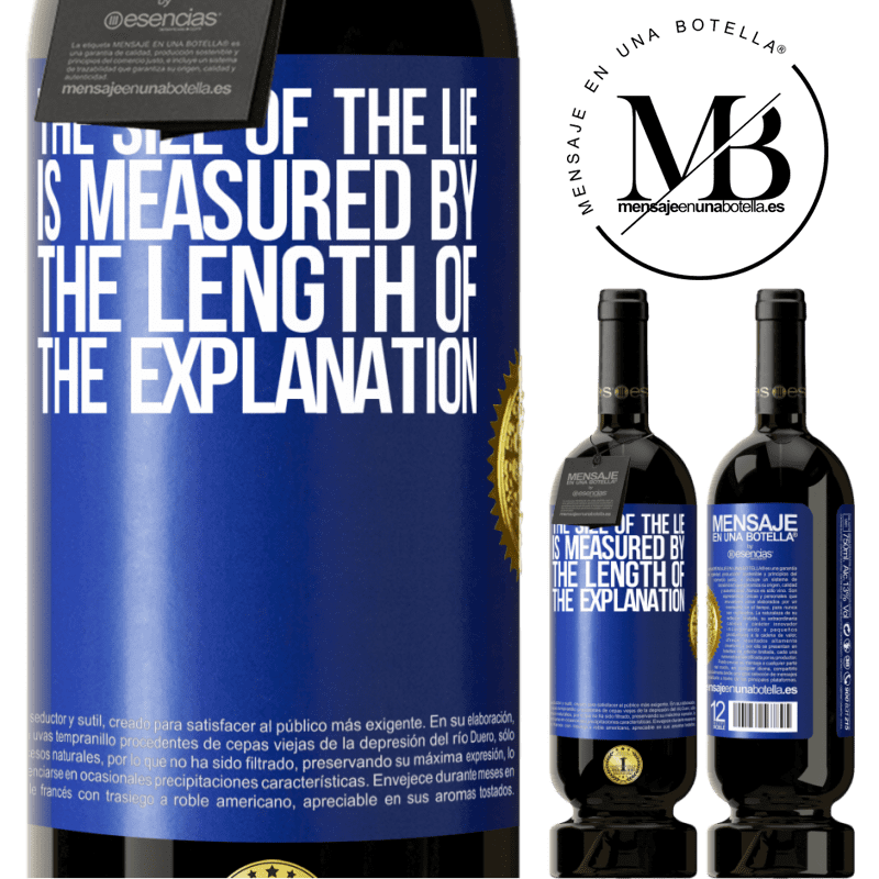 29,95 € Free Shipping | Red Wine Premium Edition MBS® Reserva The size of the lie is measured by the length of the explanation Blue Label. Customizable label Reserva 12 Months Harvest 2013 Tempranillo