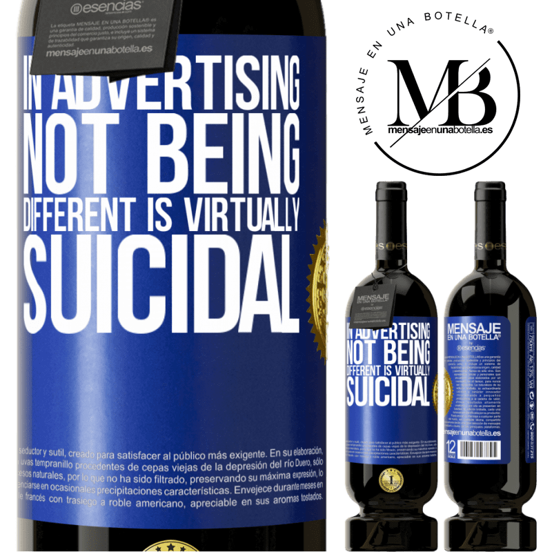 29,95 € Free Shipping | Red Wine Premium Edition MBS® Reserva In advertising, not being different is virtually suicidal Blue Label. Customizable label Reserva 12 Months Harvest 2013 Tempranillo