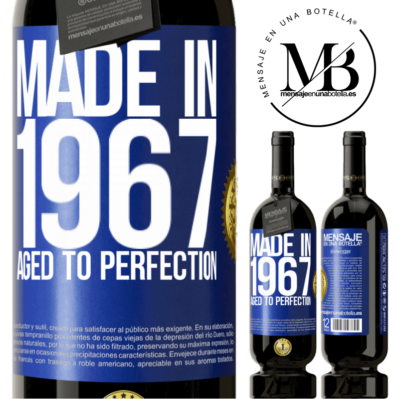 29,95 € Free Shipping | Red Wine Premium Edition MBS® Reserva Made in 1967. Aged to perfection Blue Label. Customizable label Reserva 12 Months Harvest 2013 Tempranillo