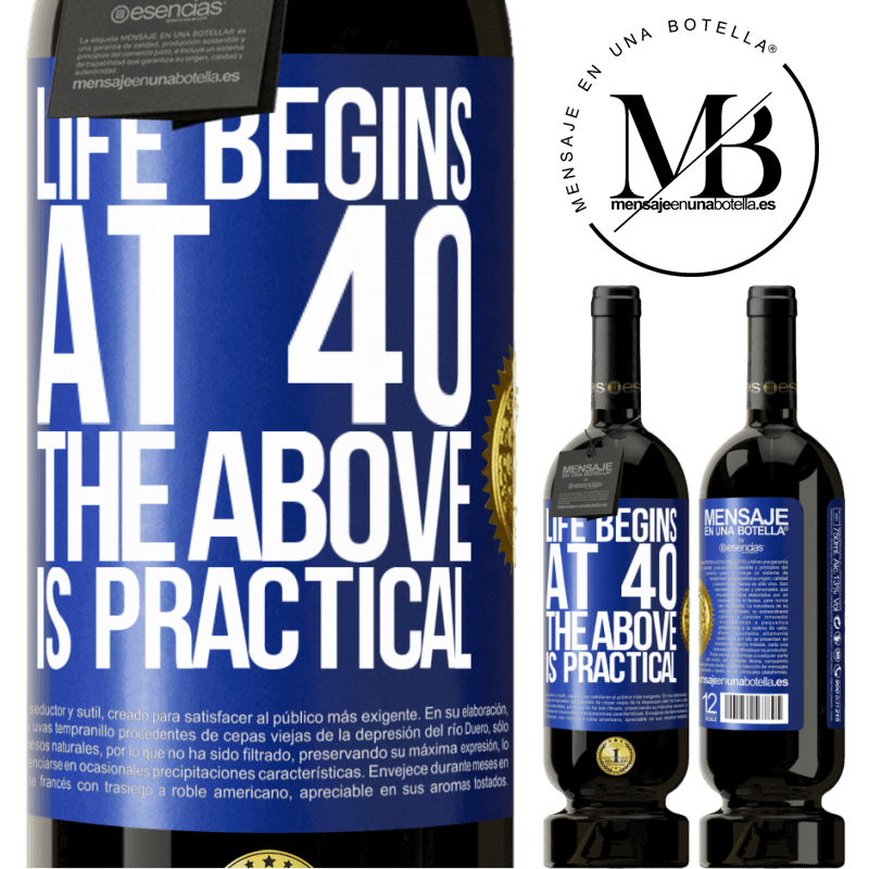 29,95 € Free Shipping | Red Wine Premium Edition MBS® Reserva Life begins at 40. The above is practical Blue Label. Customizable label Reserva 12 Months Harvest 2013 Tempranillo