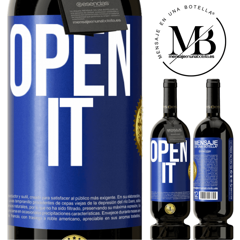 29,95 € Free Shipping | Red Wine Premium Edition MBS® Reserva Open it Blue Label. Customizable label Reserva 12 Months Harvest 2013 Tempranillo