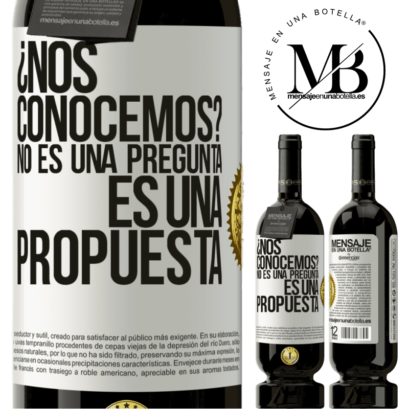 29,95 € Envoi gratuit   Vin rouge Édition Premium MBS® Reserva ¿Nous connaissons? Ce n'est pas une question, c'est une proposition Étiquette Blanche. Étiquette personnalisable Reserva 12 Mois Récolte 2013 Tempranillo