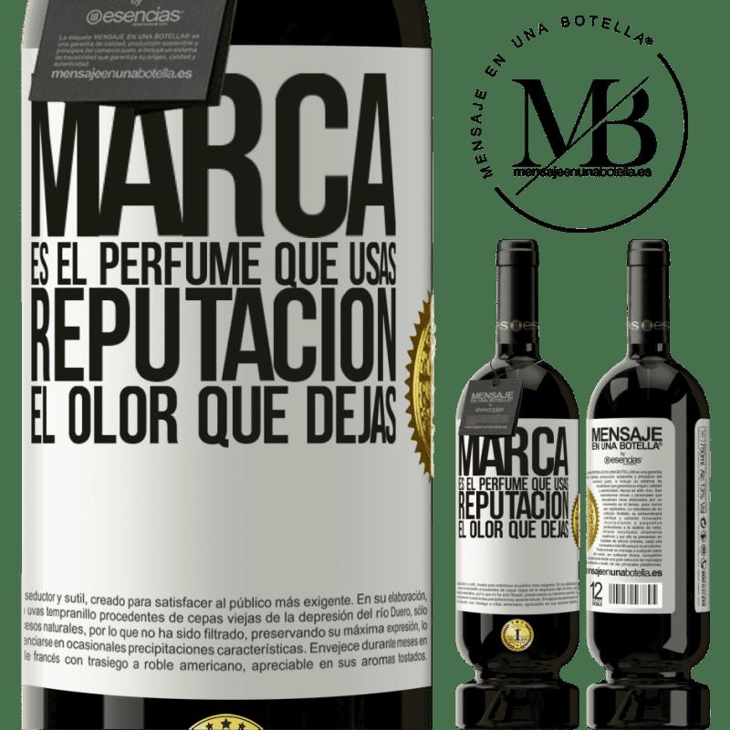 29,95 € Envoi gratuit | Vin rouge Édition Premium MBS® Reserva La marque est le parfum que vous utilisez. Réputation, l'odeur que vous laissez Étiquette Blanche. Étiquette personnalisable Reserva 12 Mois Récolte 2013 Tempranillo