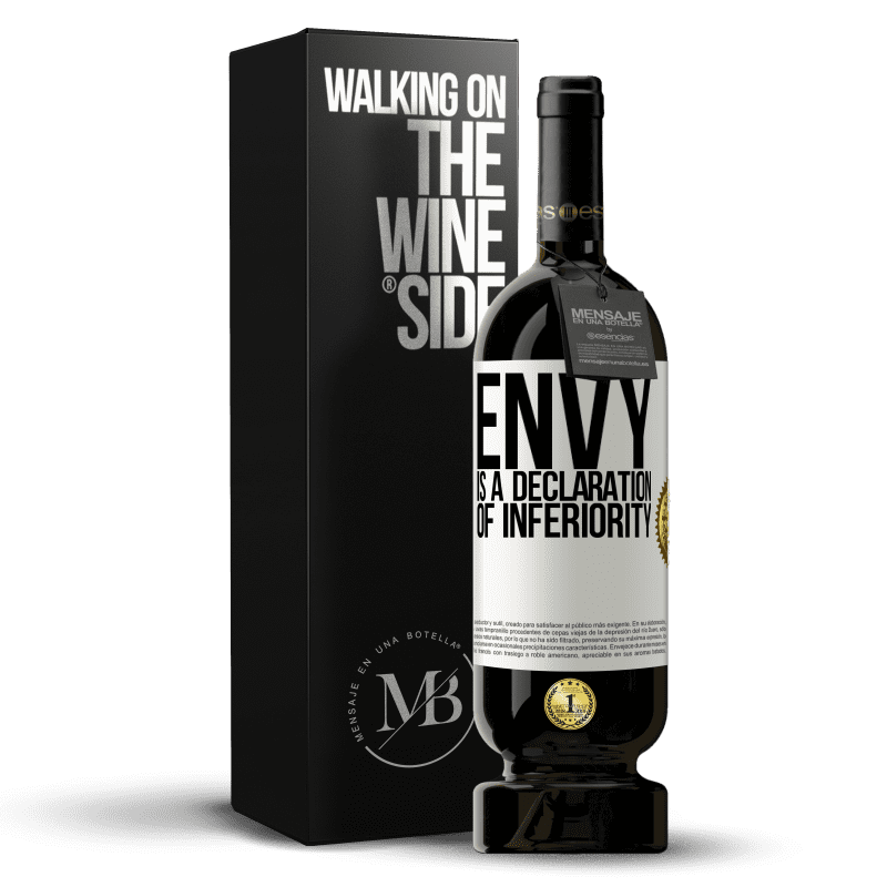 29,95 € Free Shipping | Red Wine Premium Edition MBS® Reserva Envy is a declaration of inferiority White Label. Customizable label Reserva 12 Months Harvest 2013 Tempranillo