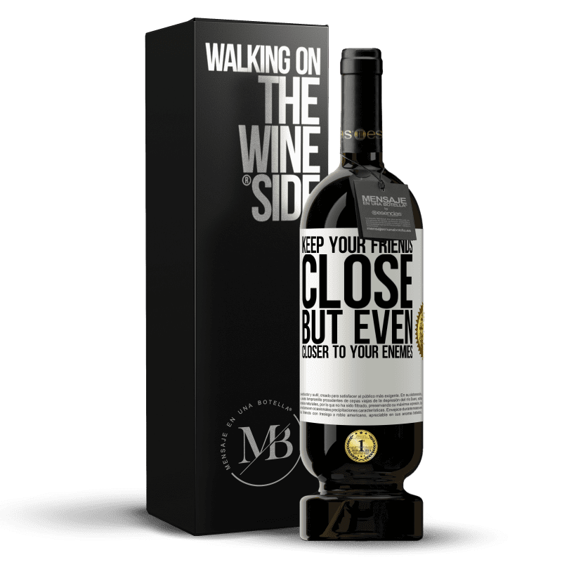 29,95 € Free Shipping | Red Wine Premium Edition MBS® Reserva Keep your friends close, but even closer to your enemies White Label. Customizable label Reserva 12 Months Harvest 2013 Tempranillo