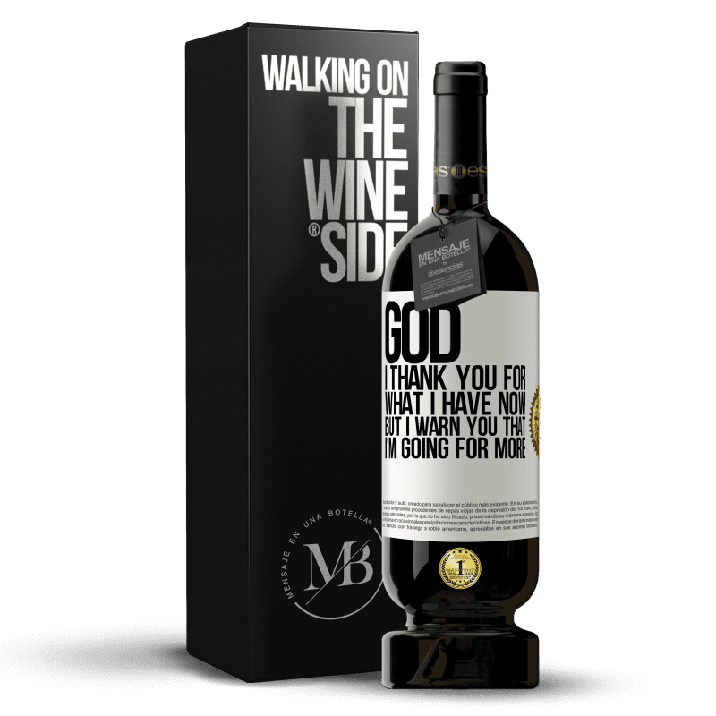 29,95 € Free Shipping | Red Wine Premium Edition MBS® Reserva God, I thank you for what I have now, but I warn you that I'm going for more White Label. Customizable label Reserva 12 Months Harvest 2013 Tempranillo