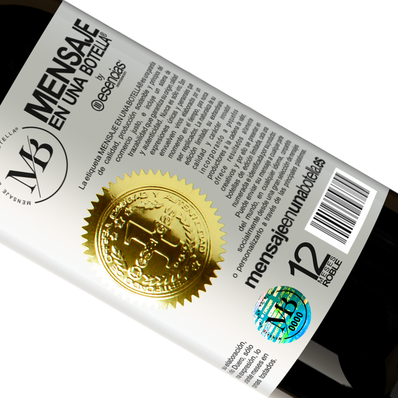 Limited Edition. «Does anyone know on which page of the Bible is the recipe to turn water into wine? It's for a party this Friday» Premium Edition MBS® Reserva