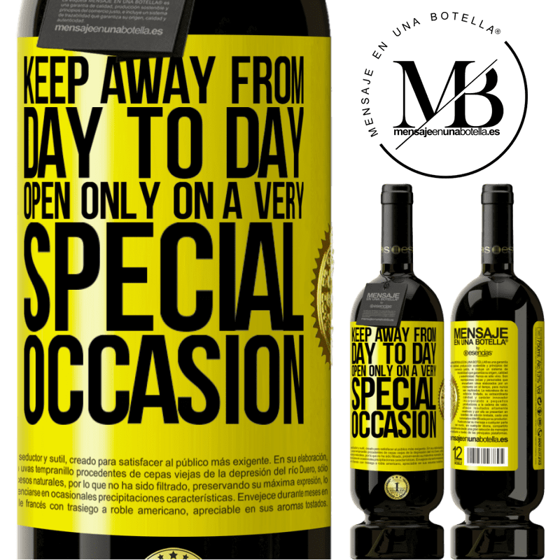 29,95 € Free Shipping | Red Wine Premium Edition MBS® Reserva Keep away from day to day. Open only on a very special occasion Yellow Label. Customizable label Reserva 12 Months Harvest 2013 Tempranillo