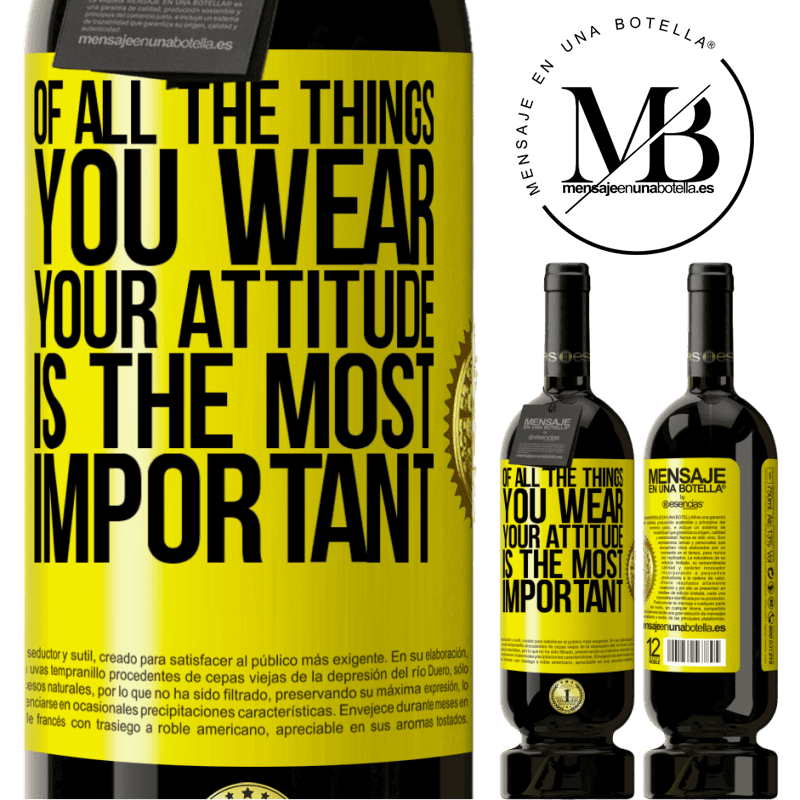 29,95 € Free Shipping | Red Wine Premium Edition MBS® Reserva Of all the things you wear, your attitude is the most important Yellow Label. Customizable label Reserva 12 Months Harvest 2013 Tempranillo