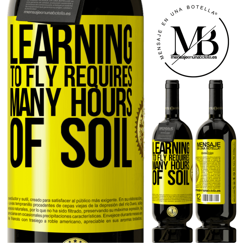 29,95 € Free Shipping | Red Wine Premium Edition MBS® Reserva Learning to fly requires many hours of soil Yellow Label. Customizable label Reserva 12 Months Harvest 2013 Tempranillo