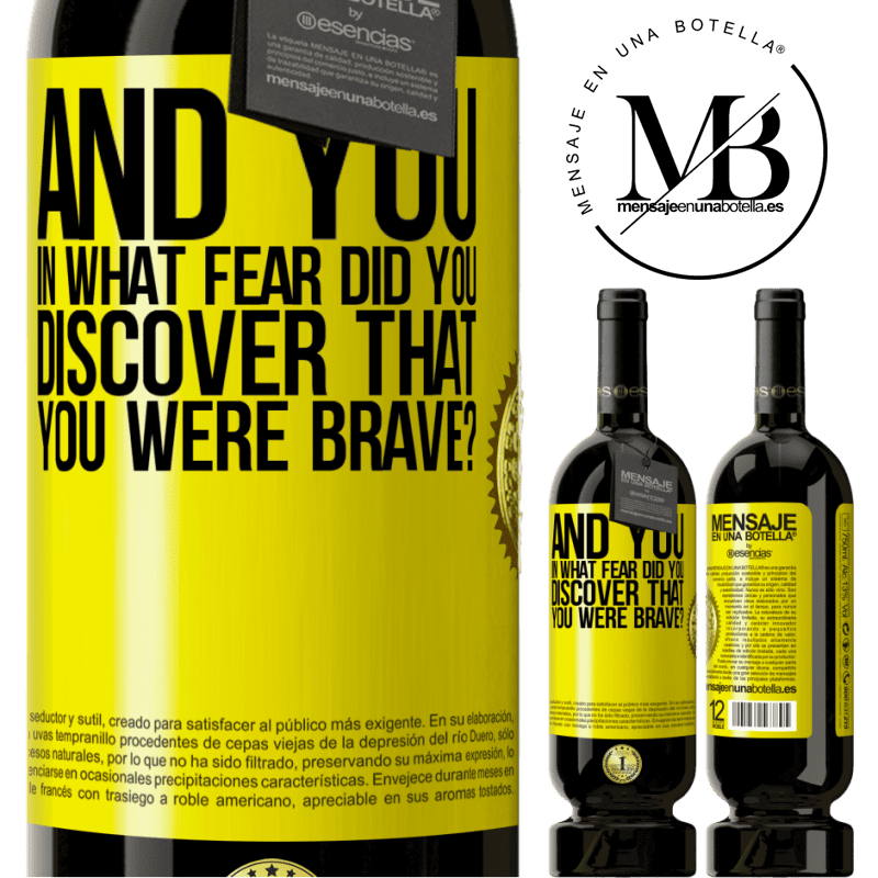 29,95 € Free Shipping | Red Wine Premium Edition MBS® Reserva And you, in what fear did you discover that you were brave? Yellow Label. Customizable label Reserva 12 Months Harvest 2013 Tempranillo