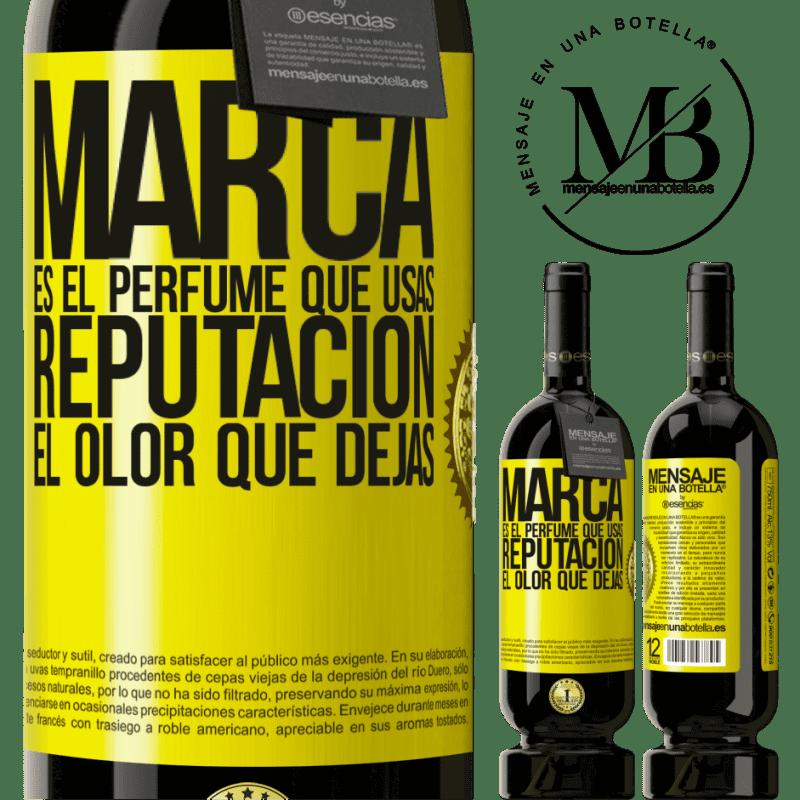 29,95 € Envoi gratuit | Vin rouge Édition Premium MBS® Reserva La marque est le parfum que vous utilisez. Réputation, l'odeur que vous laissez Étiquette Jaune. Étiquette personnalisable Reserva 12 Mois Récolte 2013 Tempranillo