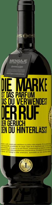 29,95 € Kostenloser Versand | Rotwein Premium Edition MBS® Reserva Marke ist das Parfüm, das Sie verwenden. Ruf, der Geruch, den du hinterlässt Gelbes Etikett. Anpassbares Etikett Reserva 12 Monate Ernte 2013 Tempranillo