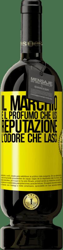 29,95 € Spedizione Gratuita | Vino rosso Edizione Premium MBS® Reserva Il marchio è il profumo che usi. Reputazione, l'odore che lasci Etichetta Gialla. Etichetta personalizzabile Reserva 12 Mesi Raccogliere 2013 Tempranillo