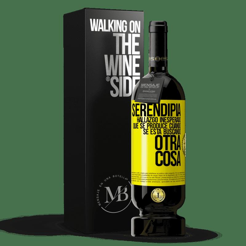 29,95 € Envoi gratuit   Vin rouge Édition Premium MBS® Reserva Serendipity Découverte inattendue qui se produit lorsque vous recherchez autre chose Étiquette Jaune. Étiquette personnalisable Reserva 12 Mois Récolte 2013 Tempranillo