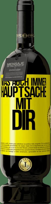 29,95 € Kostenloser Versand | Rotwein Premium Edition MBS® Reserva Was auch immer, außer mit dir Gelbes Etikett. Anpassbares Etikett Reserva 12 Monate Ernte 2013 Tempranillo
