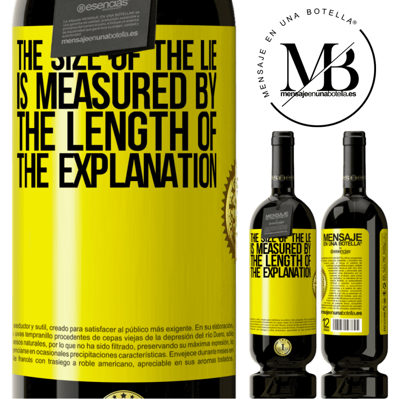 29,95 € Free Shipping | Red Wine Premium Edition MBS® Reserva The size of the lie is measured by the length of the explanation Yellow Label. Customizable label Reserva 12 Months Harvest 2013 Tempranillo