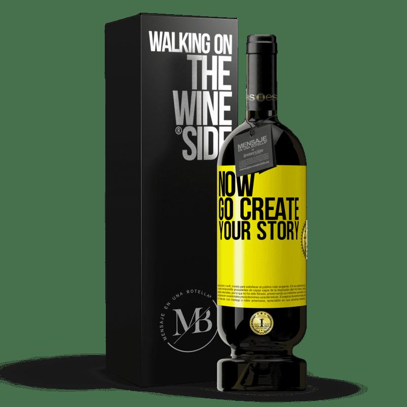 29,95 € Envoi gratuit   Vin rouge Édition Premium MBS® Reserva Now, go create your story Étiquette Jaune. Étiquette personnalisable Reserva 12 Mois Récolte 2013 Tempranillo