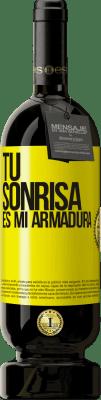 29,95 € Envío gratis | Vino Tinto Edición Premium MBS® Reserva Tu sonrisa es mi armadura Etiqueta Amarilla. Etiqueta personalizable Reserva 12 Meses Cosecha 2013 Tempranillo