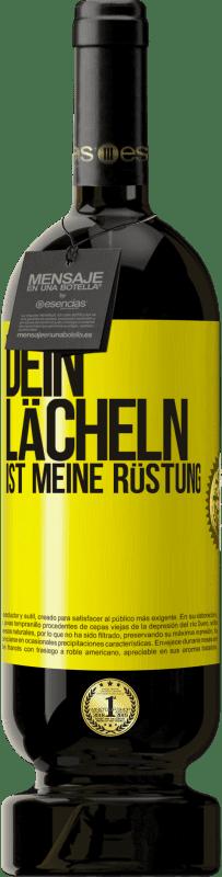 29,95 € Kostenloser Versand | Rotwein Premium Ausgabe MBS® Reserva Dein Lächeln ist meine Rüstung Gelbes Etikett. Anpassbares Etikett Reserva 12 Monate Ernte 2013 Tempranillo