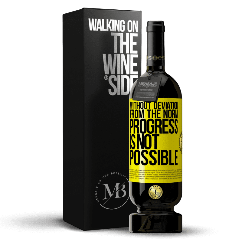 29,95 € Free Shipping   Red Wine Premium Edition MBS® Reserva Without deviation from the norm, progress is not possible Yellow Label. Customizable label Reserva 12 Months Harvest 2013 Tempranillo