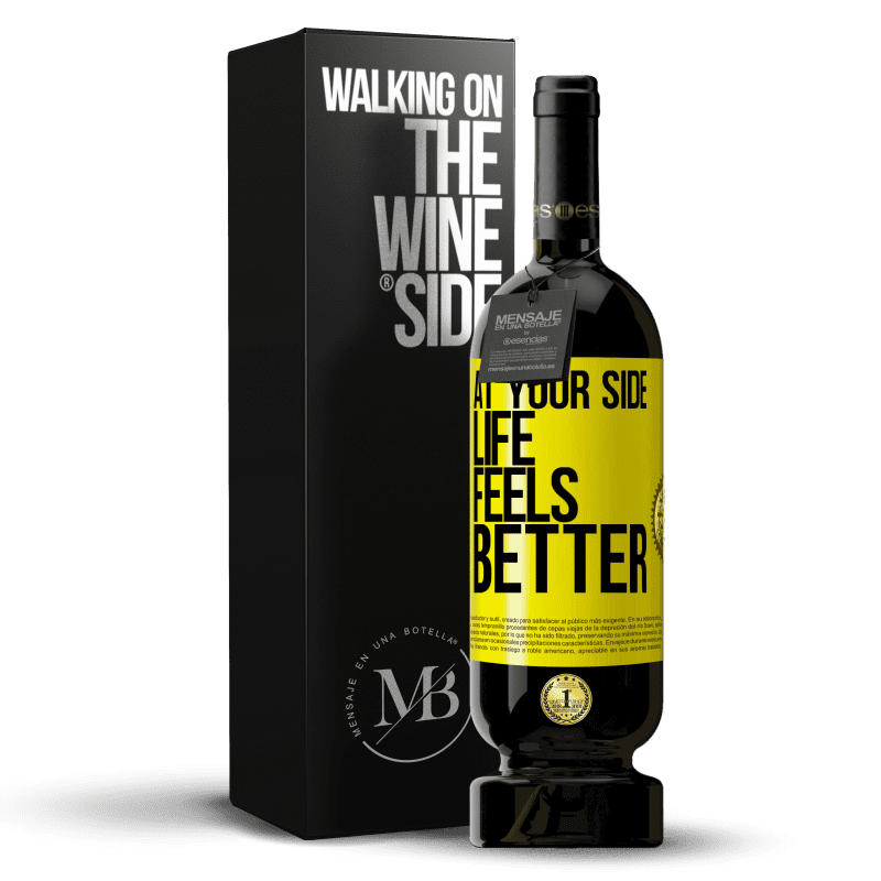29,95 € Free Shipping | Red Wine Premium Edition MBS® Reserva At your side life feels better Yellow Label. Customizable label Reserva 12 Months Harvest 2013 Tempranillo