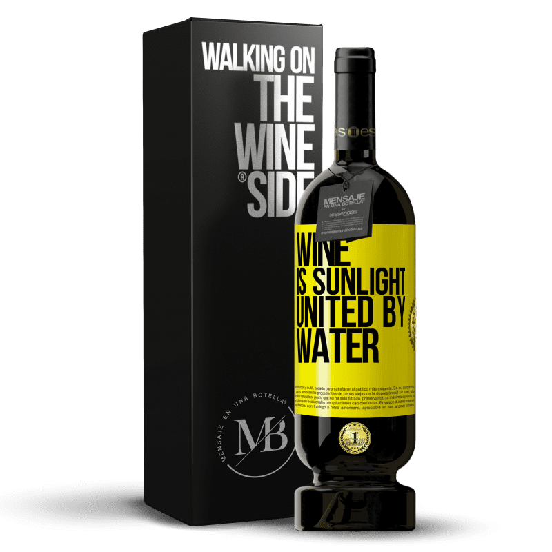 29,95 € Free Shipping | Red Wine Premium Edition MBS® Reserva Wine is sunlight, united by water Yellow Label. Customizable label Reserva 12 Months Harvest 2013 Tempranillo