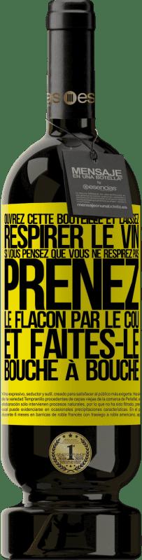 29,95 € Envoi gratuit | Vin rouge Édition Premium MBS® Reserva Ouvrez cette bouteille et laissez respirer le vin. Si vous pensez que vous ne respirez pas, prenez le flacon par le cou et Étiquette Jaune. Étiquette personnalisable Reserva 12 Mois Récolte 2013 Tempranillo