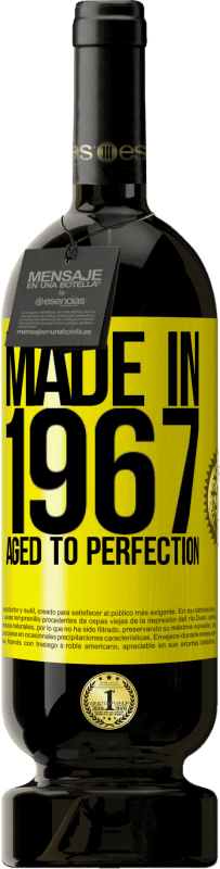 29,95 € | Red Wine Premium Edition MBS Reserva Made in 1967. Aged to perfection Yellow Label. Customizable label I.G.P. Vino de la Tierra de Castilla y León Aging in oak barrels 12 Months Harvest 2016 Spain Tempranillo