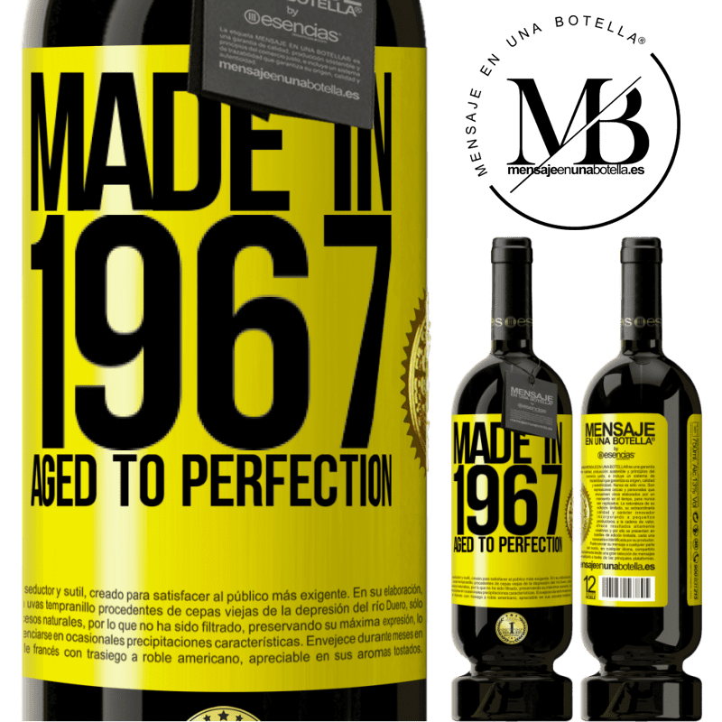 29,95 € Free Shipping | Red Wine Premium Edition MBS® Reserva Made in 1967. Aged to perfection Yellow Label. Customizable label Reserva 12 Months Harvest 2013 Tempranillo