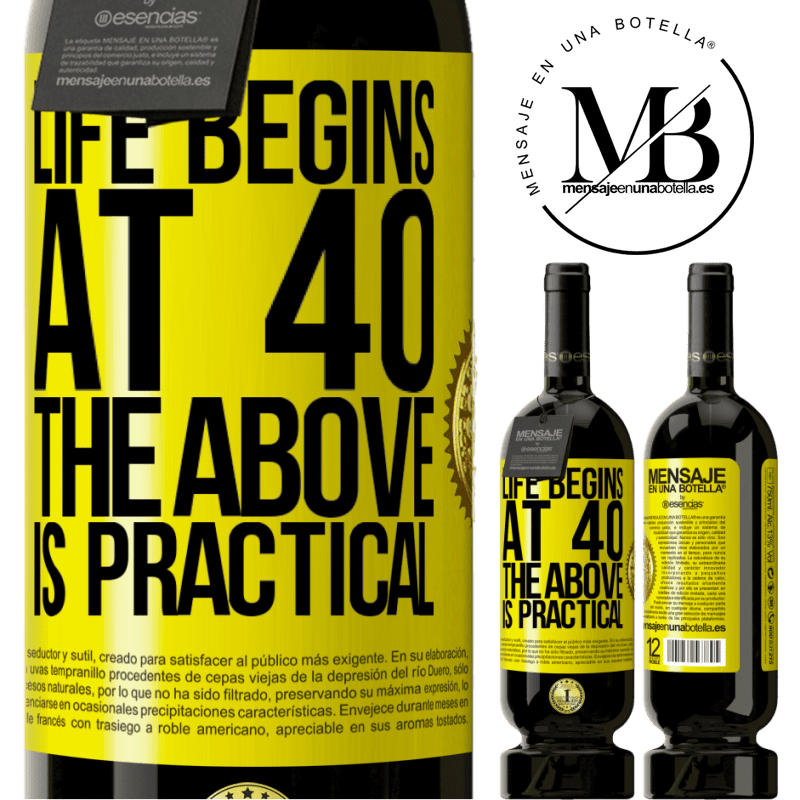 29,95 € Free Shipping | Red Wine Premium Edition MBS® Reserva Life begins at 40. The above is practical Yellow Label. Customizable label Reserva 12 Months Harvest 2013 Tempranillo