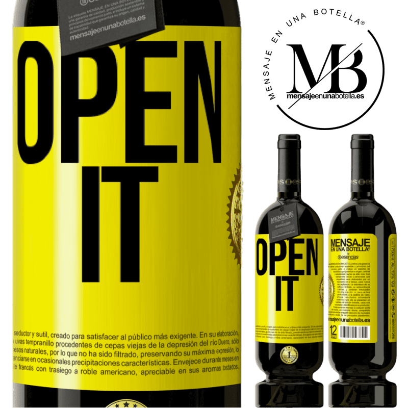 29,95 € Free Shipping | Red Wine Premium Edition MBS® Reserva Open it Yellow Label. Customizable label Reserva 12 Months Harvest 2013 Tempranillo