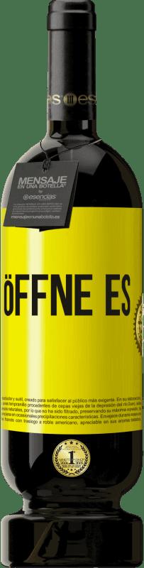 29,95 € Kostenloser Versand | Rotwein Premium Edition MBS® Reserva Öffne es Gelbes Etikett. Anpassbares Etikett Reserva 12 Monate Ernte 2013 Tempranillo