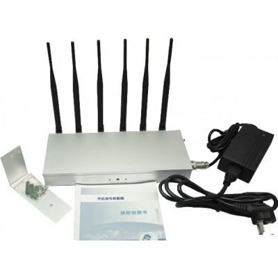 135,95 € 免费送货 | 手机干扰器 6天线。高功率信号阻断器 DCS