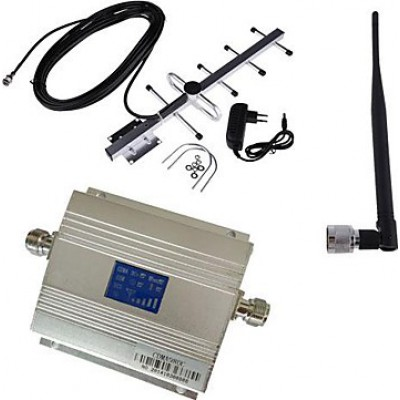 85,95 € Free Shipping | Signal Boosters Cell phone signal booster. Amplifier and YaGi antenna Kit. LCD Display CDMA