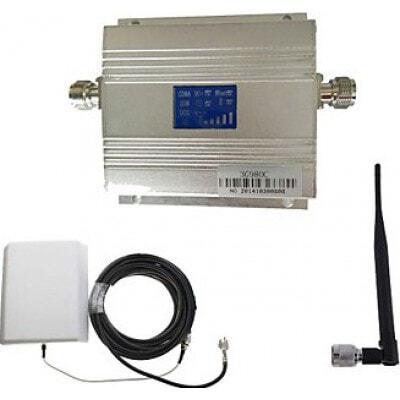 Reforço de sinal de telefone celular. Kit de antena de painel. Tela de LCD