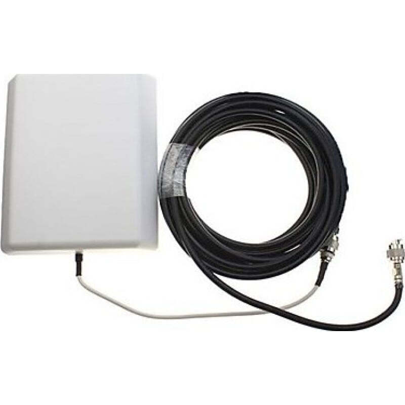 85,95 € Free Shipping   Signal Boosters Cell phone signal booster. Panel antenna Kit. LCD Display 3G