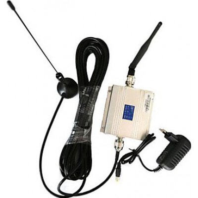 Mobile phone signal booster. Amplifier and antenna Kit. LCD Display