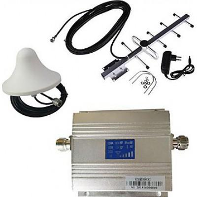 Усилитель сигнала сотового телефона. Комплект усилителя и антенны. ЖК дисплей